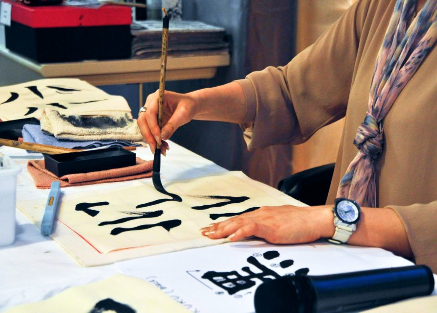Мастер-класс от каллиграфа при монастыре