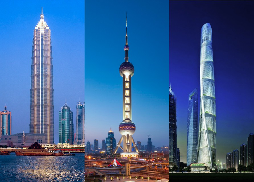 Небоскребы Шанхая (на выбор)