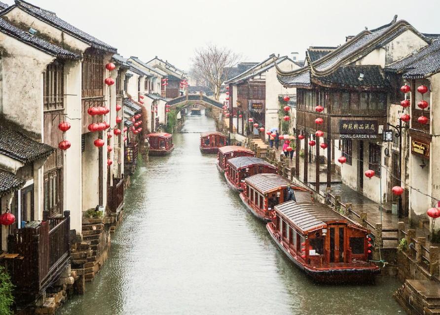 Прогулка по Великому Каналу Сучжоу